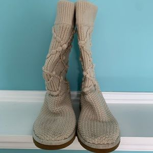 Ugg tan Classic argument knit boot 9